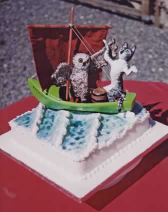 Cake with Owl and Pussycat.