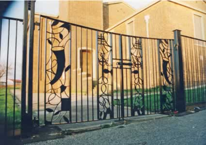 Wrought Iron Church Gates, Main Entrance.